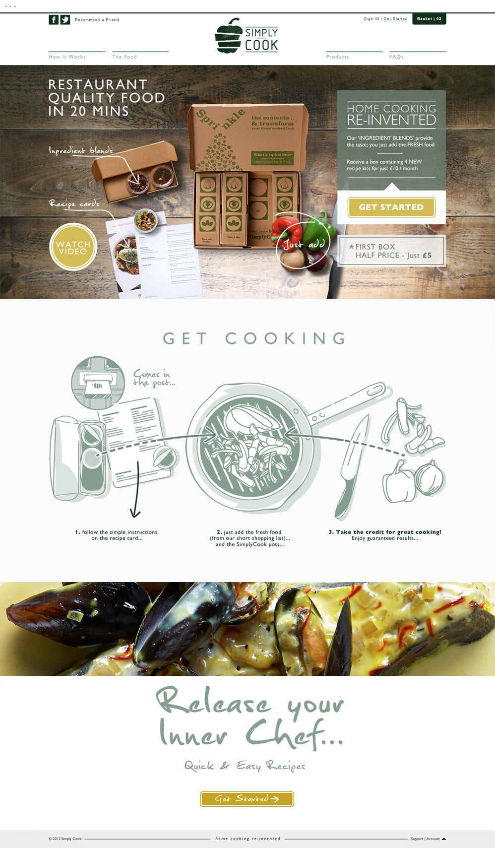 Mike-Garland-Simply-Cook-Website-Home-London Freelance Web Designer