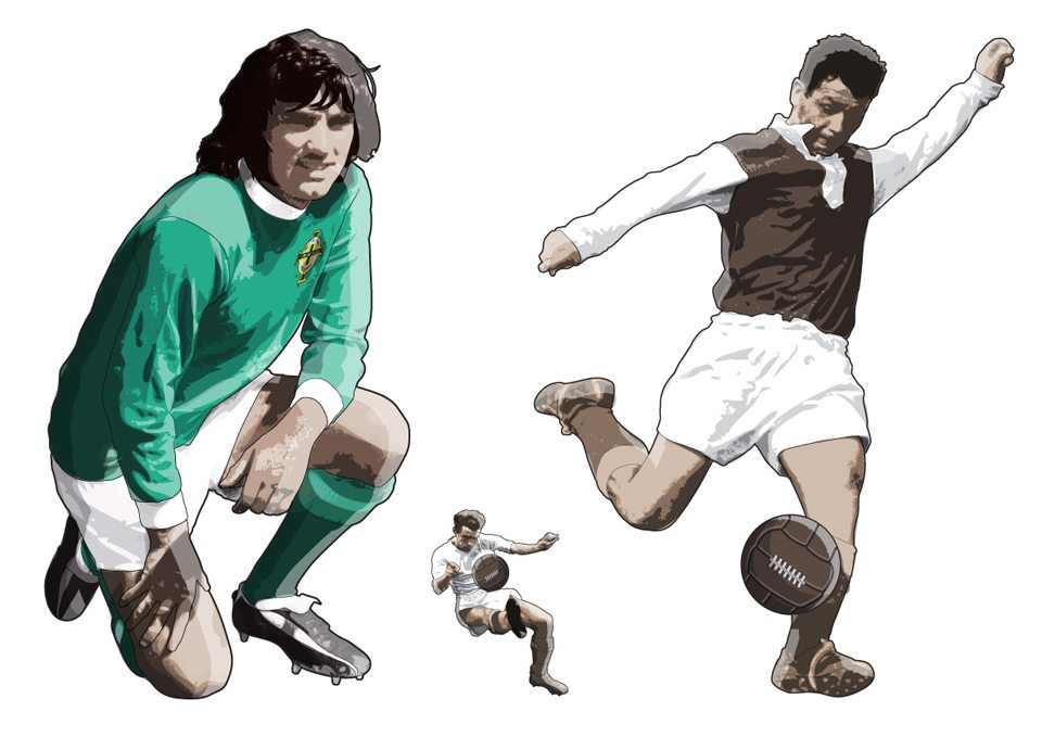 mike-garland-george-best-DK-football-book-Freelance Illustrator / Illustration