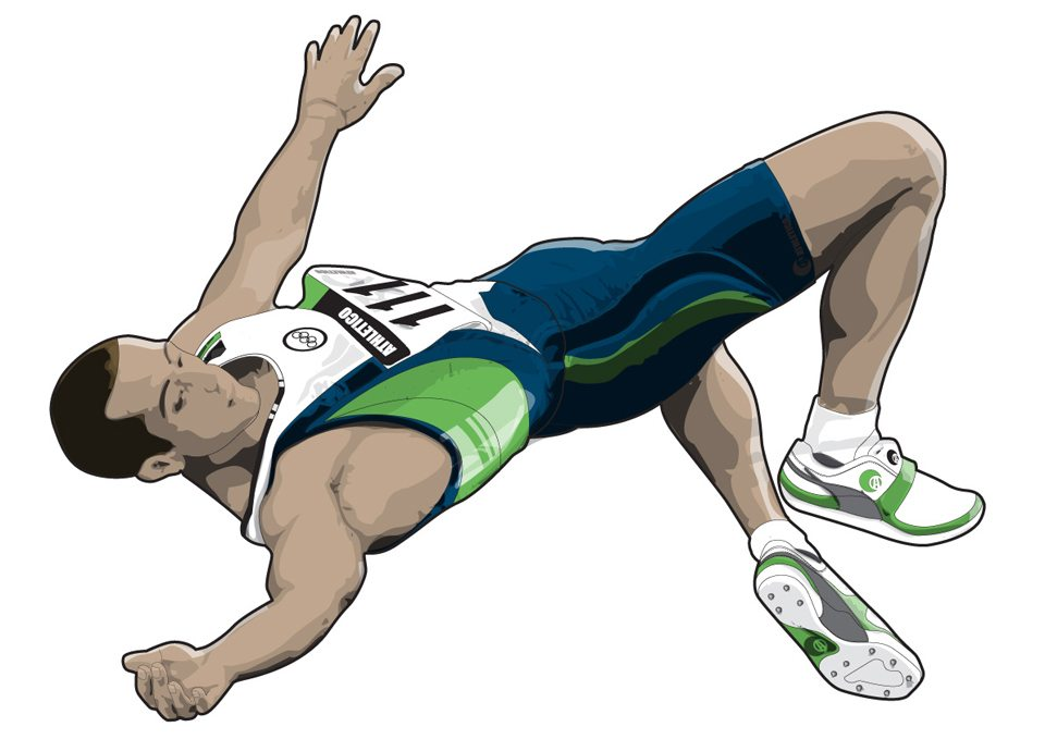 mike-garland-high-jump-DK-sports-book-Freelance Illustrator / Illustration