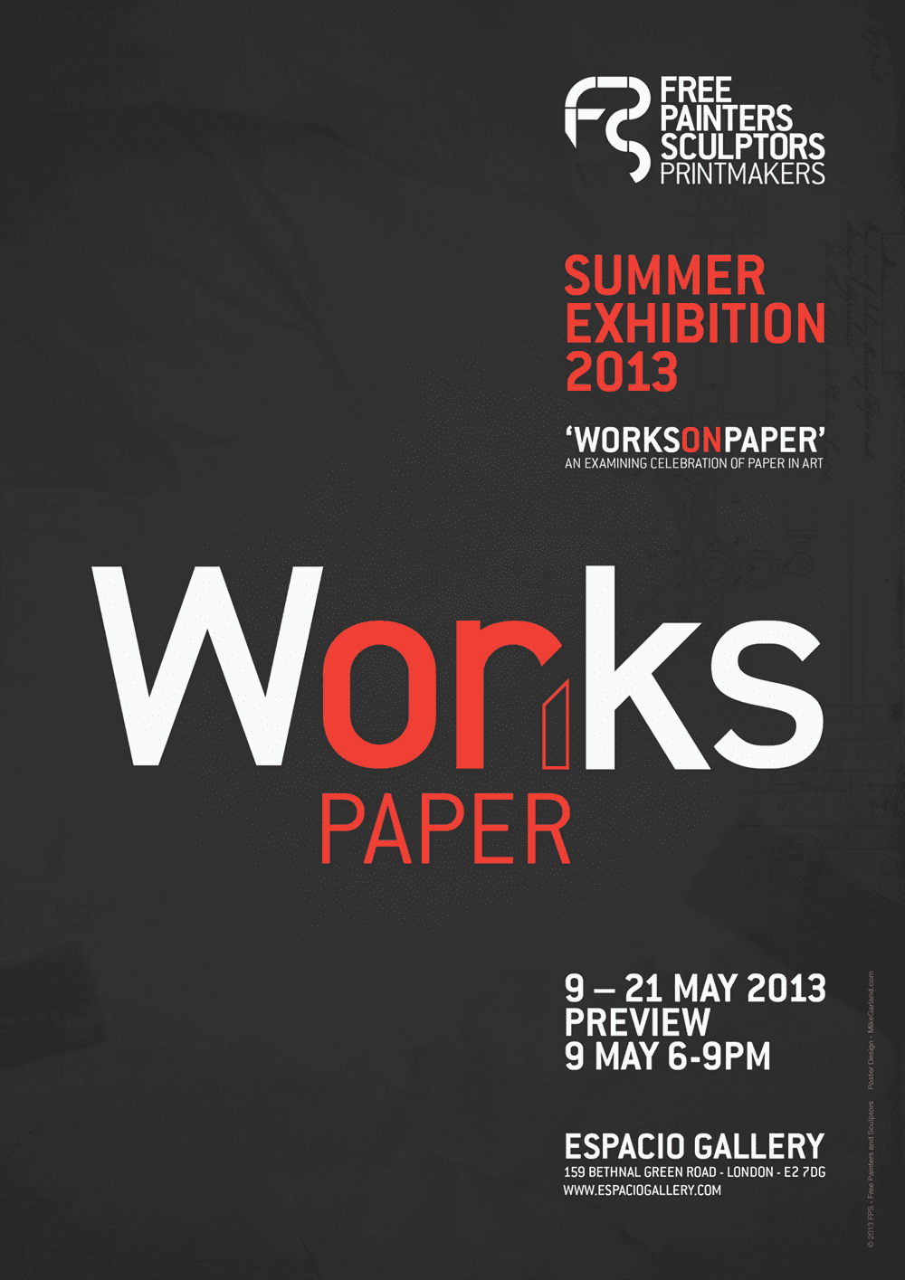 Mike-Garland-Free-Painters-and-Sculptors-Summer-Exhibition-Poster-Design-2013