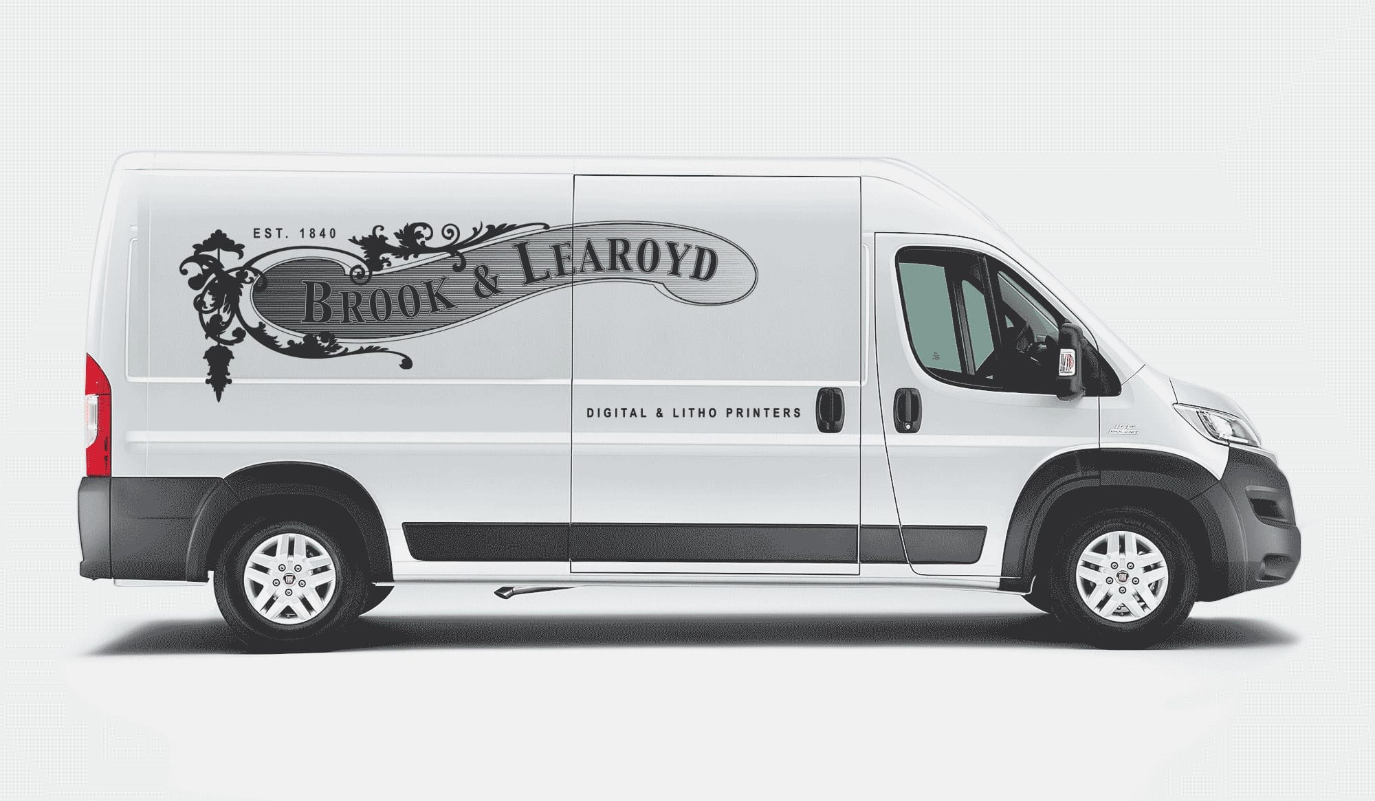 Mike-Garland-Freelance-Graphic-Designer-London-Brook-and-learoyd-Logo-Van-Decal-Side-Brand